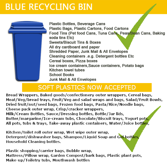 What goes in your blue bin